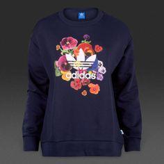 75$-Adidas-Originals-Women-039-s-Floral-Sweater-AZ3243-Blue-Sweatshirt-Sz-XS  #Adidas #AdidasOriginals #Women #Sport #Blue #Trefoil #TrefoilLogo #Sweater #Sweatshirt #Floral #FloralPrint