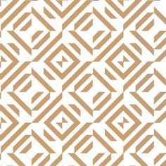 Tobacco Tiles :: Geometric :: Chic Shelf Paper: 400+ Stylish Contact Paper…