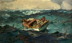 WINSLOW HOMER The Gulf Stream Oil on Canvas 28.125″ x 49.125″