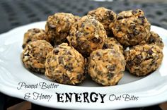 Peanut Butter and Honey Energy Oat Bites