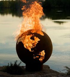 OMG! I  love this! I want this!  Handcrafted Globe Iron Fire Pit