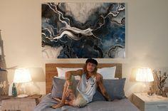 NEW MOON - ORIGINAL  Artwork size 180 x 120cm Resin JAN 25 2016