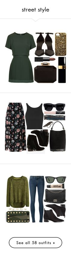 """""""street style"""" by sisaez ❤ liked on Polyvore featuring Topshop, Burberry, NARS Cosmetics, Alexander McQueen, Marc by Marc Jacobs, Steve Madden, Acne Studios, AS29, Valentino and Charlotte Russe"""