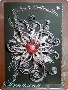 Открытка Новый год Квиллинг Открытки Бумага фото 1