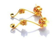 cercei ear cuff aurii/gold (20 LEI la AtelierDanuta.breslo.ro)