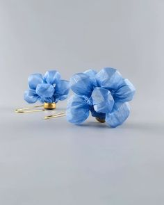 Unique Blue Earrings, Large Long Funky Statement Blue Fabric Earrings, Statement Accessory, Funky Earrings, Blue Earrings, Unique Earrings, Bridal Earrings, Bridal Jewelry, Drop Earrings, Gifts For Kids, Wedding Rings, Etsy Shop
