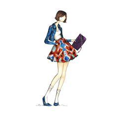Fashion-Forward! Illustration by @offbeatinspired {Tiffany Mitchell} #hobogirl