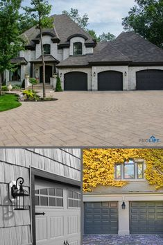 Do You Prefer A Bright Blue Or Hints Of Blue In Your Garage Door Design?