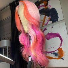 Pretty Hair Color, Beautiful Hair Color, Lace Front Wigs, Lace Wigs, Hair Colorful, Colored Wigs, Birthday Hair, Hair Laid, Baddie Hairstyles