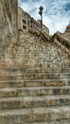 Escaleras zona Palau Congresos