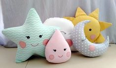 40 Ideas for diy decoracion habitacion cojines Baby Sewing Projects, Sewing For Kids, Sewing Crafts, Cute Pillows, Baby Pillows, Felt Crafts, Diy And Crafts, Bird Pillow, Baby Decor
