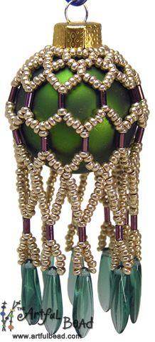 Mini Beaded Ornament - Mandi Ainsworth www.artfulbead.com $30.00 #jewelrymaking #class