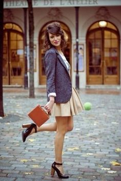 かわいい♡ジャケット×サーキュラースカートのガーリーコーデ♡