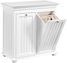 Hampton Bay Double Tilt-Out Beadboard Hamper  Sort Laundry Easily in This Handsome Laundry Hamper  Item # 00137 $109.00
