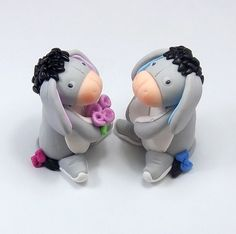 Custom Wedding Cake Topper, Donkey Couple, Personalized Figurines, Made To Order. $69.00, via Etsy.