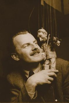 Jože Pengov, one of the most eminent Slovene puppetry directors with Kasperle