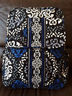NEW Vera Bradley Small Backpack Canterberry Cobalt Pattern