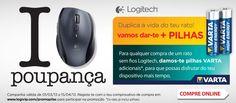 Rato sem fios Logitech com oferta de pilhas VARTA adicionais      http://www.radiopopular.pt/catalogo/promocoes.php?p=329