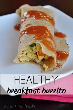 Healthy Breakfast Burritos perfect for on-the-go! Love them for a pre-workout meal too! #HealthyHabitsChallange #workout #weightloss