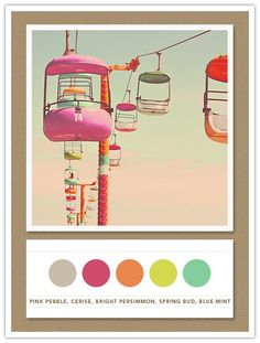inspired by the Fifties, ice creamy colours