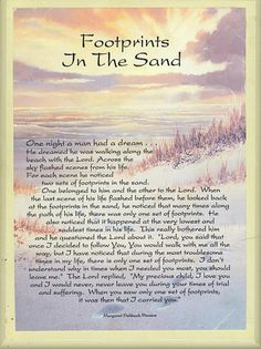 footprints poem   lien - FOOTPRINTS (inspirational poem)