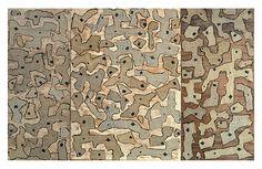 "Rsalie Cascoigne ""Lambing"" 1991  torn linoleum on plywood"