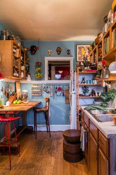Victor & Rajiv's Colorful, Collected Kitchen (and Garden!)
