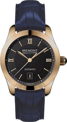 80cd5a46689 Bremont Watch Solo 32 LC Rose Gold Ladies SOLO-32-LC RG-BK BLUE ALLIGATOR  Watch