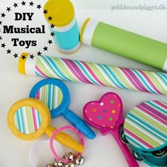 Making Life Blissful: Dollar Store DIY Musical Instrument Set Primary Songs, Primary Singing Time, Primary Lessons, Babysitting Kit, Baby Musical Toys, Visiting Teaching Handouts, Primary Chorister, Relief Society Activities, Teaching Music