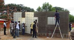 low cost housing building systems in africa by moladi Brick Building, Building A House, Appropriate Technology, Low Cost Housing, Building Systems, Construction Process, Affordable Housing, It Cast, Plastic