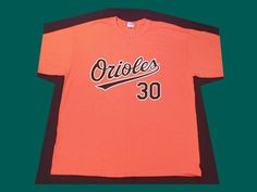 $19.99 BALTIMORE ORIOLES #30 SCOTT ORANGE T-SHIRT X-LARGE GAME DAY GIVEAWAY