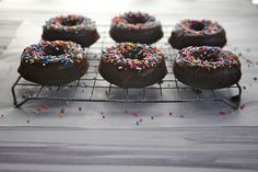 Double Chocolate Cake Doughnuts - from Joy the Baker <3