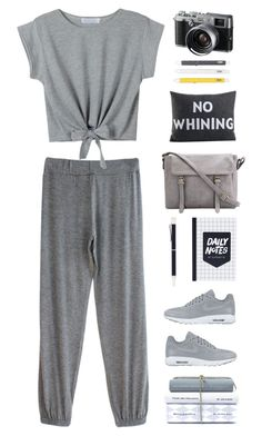 """""""No Whining"""" by mcheffer on Polyvore featuring NIKE, Georg Jensen, Fuji, Alexandra Ferguson and gray"""