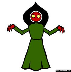 Flatwoods Monster Coloring Page