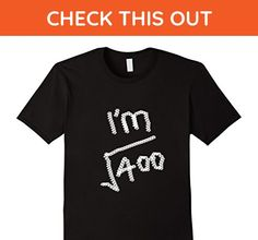 Mens 20 Years Old Math T Shirt- Square Root of 400 Large Black - Math science and geek shirts (*Amazon Partner-Link)