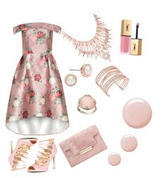 """pink"" by gimmealltheclothes ❤ liked on Polyvore featuring Chi Chi, Badgley Mischka, Topshop, Kendra Scott, Ted Baker, Alexis Bittar, Lavish by TJM and Yves Saint Laurent"