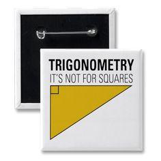Trigonometry Pinback Button by OddMatter