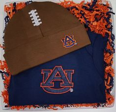 Hey, I found this really awesome Etsy listing at https://www.etsy.com/listing/183646651/auburn-tigers-baby-bodysuit-football-cap