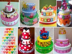 pastel de cumpleaños de goma eva