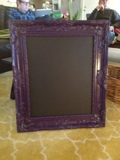 DIY chalk board. Home Depot has the ready made chalk finished board in both black and green and they'll cut it for you there. Fun project and it looks great in Siouxsie's room <3