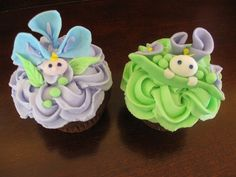 Sweet Pea CupCakes baby-shower-ideas