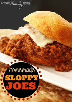 I will never go back to using the canned stuff again! These were packed with flavor! from FavFamilyRecipes.com #sloppyjoes