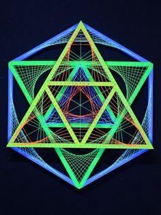 "PsyworkSchwarzlicht 3D Stringart ""Neon Soul Star"" #blacklight #schwarzlicht #stringart #fadendeko #deco #string #art #psy #yarnart #party #goa #psywork"