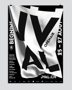 New poster design for the JVAL Openair in Begnins, Switzerland, by Emphase Sàrl, a #graphicdesign agency based in Lausanne. #typography