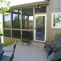 Wooden Porch Flooring Options Karenefoley Porch And Chimney Ever Simple Screened Porch Flooring Ideas Enclosed Porches, Decks And Porches, Screened In Porch Cost, Front Porch, Porch Wall, Porch Kits, Porch Ideas, Patio Ideas, Sunroom Ideas