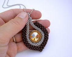 Joan of Arc Pendant Necklace Swarovski crystal by RareSpecimens