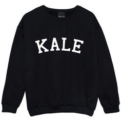 Kale Sweater Jumper Yonce Flawless Funny Fun Tumblr Hipster Swag... ($22) ❤ liked on Polyvore featuring tops, shirts, sweaters, sweatshirts, black, women's clothing, gothic shirts, goth shirt, black shirt and retro tops