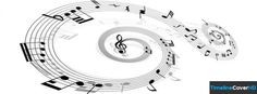 Music Note Swirl Pattern Facebook Cover Timeline Banner For Fb Facebook Cover