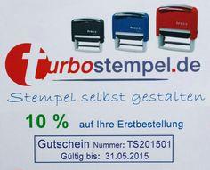 Turbostempel.de 10% off!!! 10% auf die Erstbestellung!