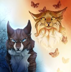 Brother and sister. Hawkfrost and MothwingCredit: Maple-heart Warrior Cats Comics, Warrior Cat Memes, Warrior Cats Fan Art, Warrior Cats Series, Warrior Cat Drawings, Cat Comics, Animal Drawings, Cool Drawings, Love Warriors
